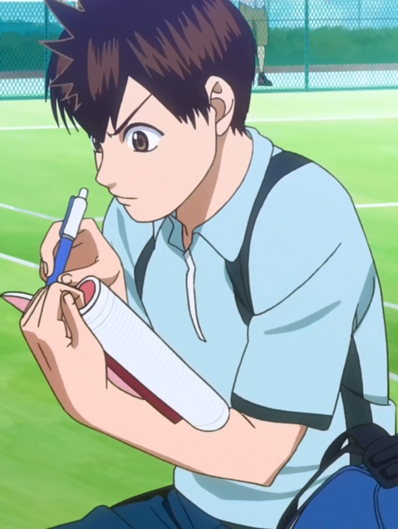 Maruo taking notes