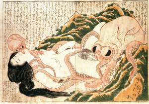 estampe hokusai le rêve de la femme du pêcheur