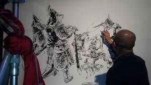 fibd 2016 Angoulême 2016 Kim Jung Gi live drawing