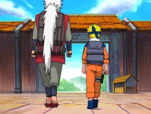age adulte Naruto_et_Jiraya_partant